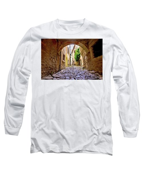 Stone Town Of Groznjan Old Street  Long Sleeve T-Shirt by Brch Photography