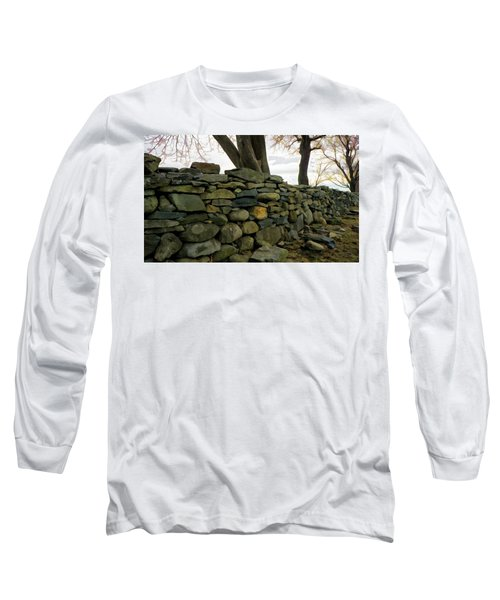 Stone Wall, Colt State Park Long Sleeve T-Shirt