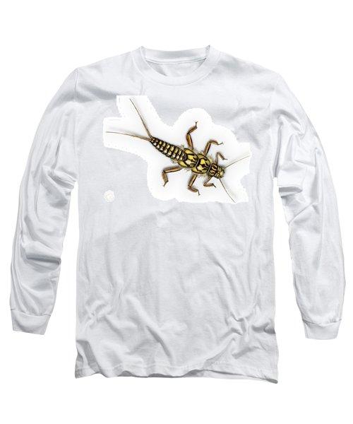 Stonefly Larva Nymph Plecoptera Perla Marginata - Steinflue -  Long Sleeve T-Shirt