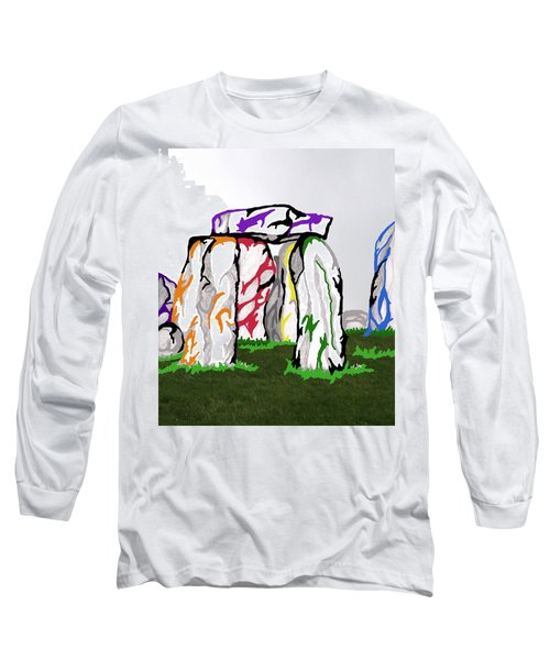 Stonehenge Chakras Long Sleeve T-Shirt