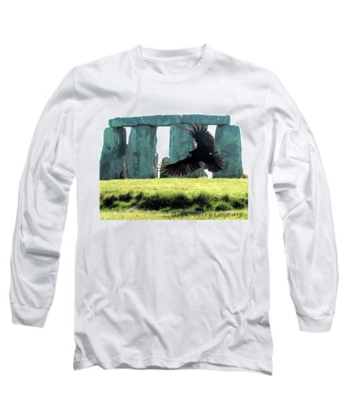 Stonehenge Crow Long Sleeve T-Shirt by Terry Cosgrave