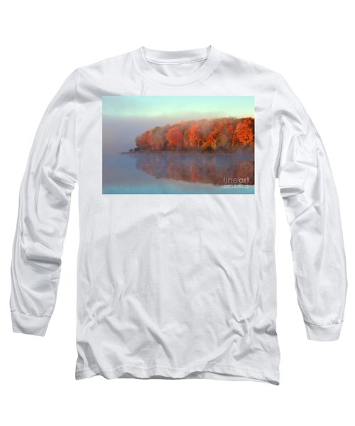 Stoneledge Lake Pristine Beauty In The Fog Long Sleeve T-Shirt by Terri Gostola