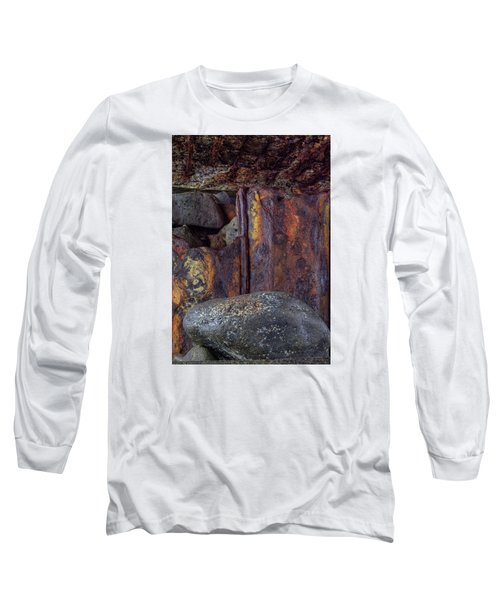 Rusted Stones 2 Long Sleeve T-Shirt by Steve Siri