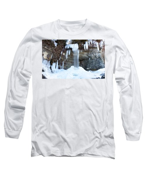 Long Sleeve T-Shirt featuring the photograph Stony Kill Falls In February #1 by Jeff Severson