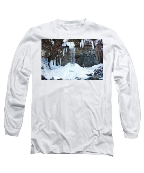 Long Sleeve T-Shirt featuring the photograph Stony Kill Falls In February #2 by Jeff Severson