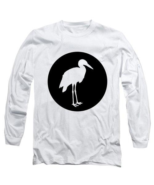 Stork Long Sleeve T-Shirt by Mordax Furittus