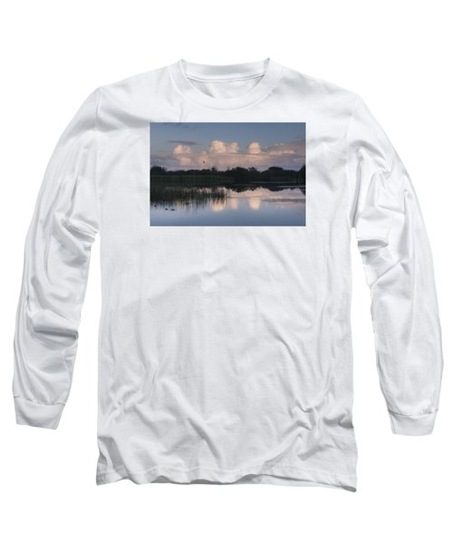Storm At Sunrise Over The Wetlands Long Sleeve T-Shirt
