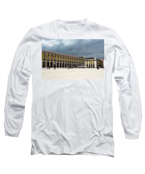 Long Sleeve T-Shirt featuring the photograph Storm Brews Over Commerce Square by Lorraine Devon Wilke