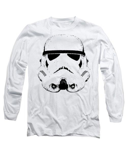 Stormtrooper Helmet Star Wars Tee Black Ink Long Sleeve T-Shirt