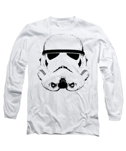 Stormtrooper Helmet Star Wars Tee Black Ink Long Sleeve T-Shirt