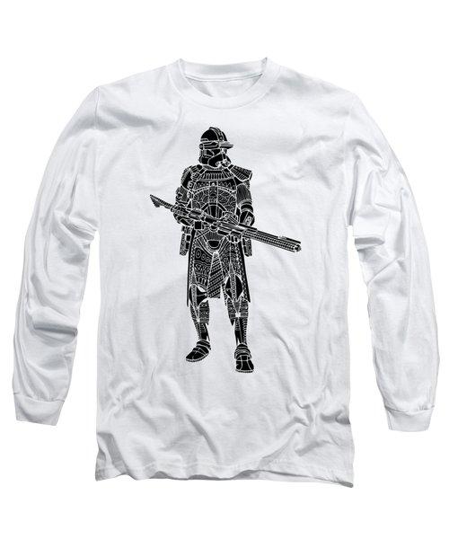 Stormtrooper Samurai - Star Wars Art - Black Long Sleeve T-Shirt