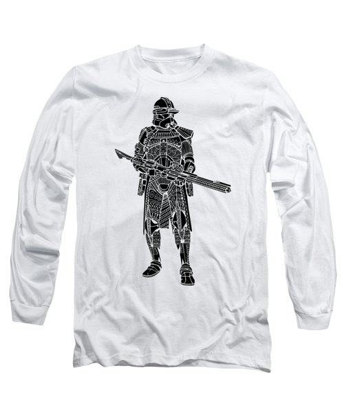 Stormtrooper Samurai - Star Wars Art - Black Long Sleeve T-Shirt