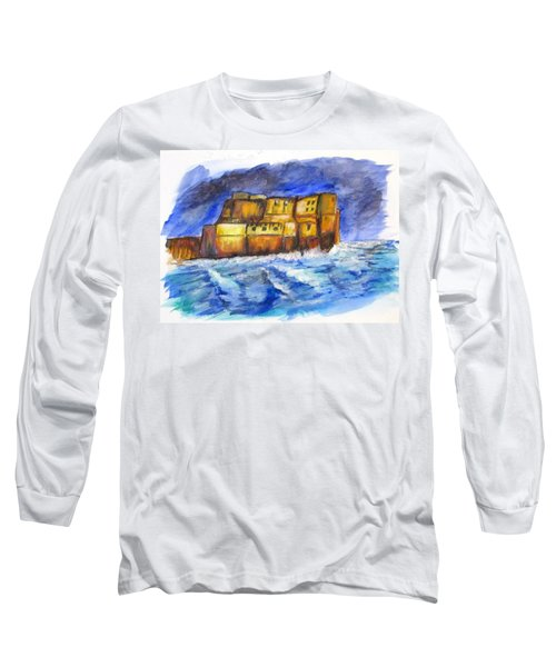 Stormy Castle Dell'ovo, Napoli Long Sleeve T-Shirt by Clyde J Kell