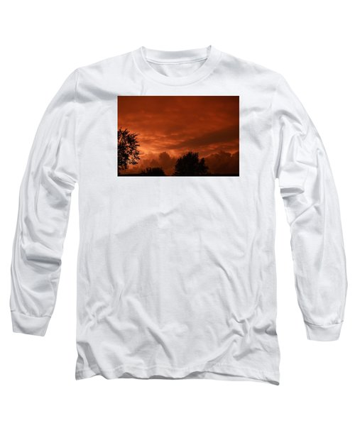 Long Sleeve T-Shirt featuring the photograph Stormy Sunset by Nikki McInnes