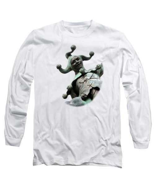 Stratford's Jester Statue On Transparent Background Long Sleeve T-Shirt