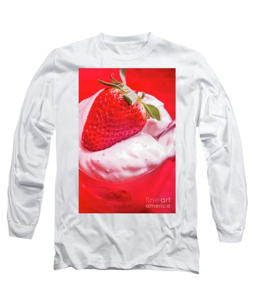 Strawberries And Cream Long Sleeve T-Shirt