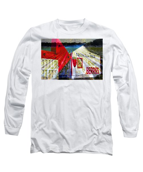 Strawberries Fresh From The Field Long Sleeve T-Shirt by David Lee Thompson