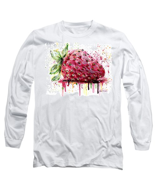 Strawberry 2 Long Sleeve T-Shirt by Arleana Holtzmann
