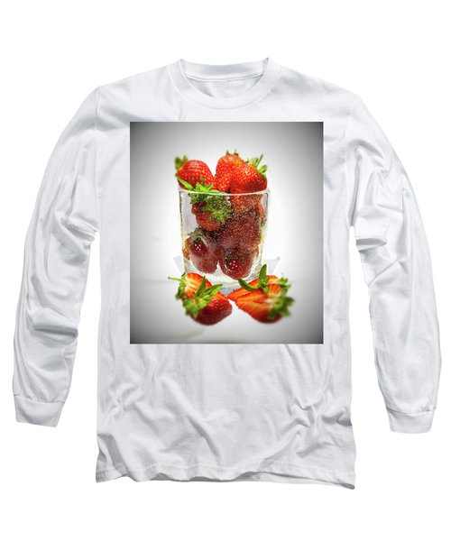 Strawberry Dessert Long Sleeve T-Shirt by David French
