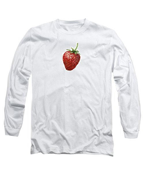 Long Sleeve T-Shirt featuring the painting Strawberry by Heidi Kriel