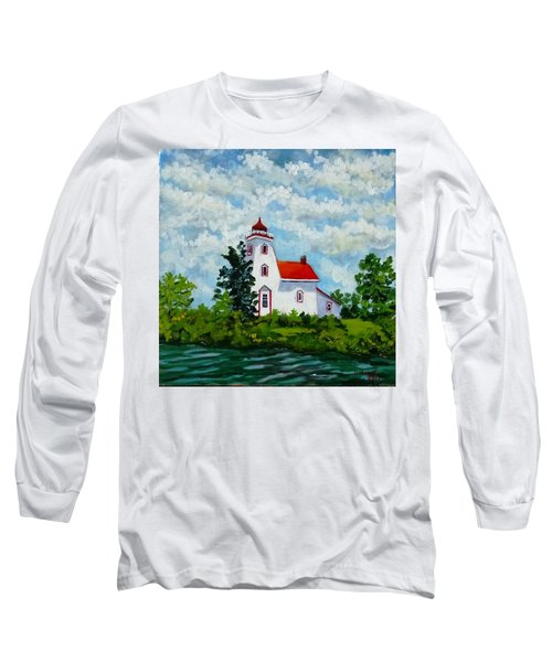 Strawberry Island Lighthouse, Manitoulin Island Long Sleeve T-Shirt