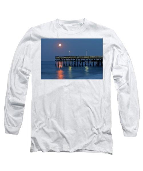 Strawberry Moon Over Sandbridge Long Sleeve T-Shirt