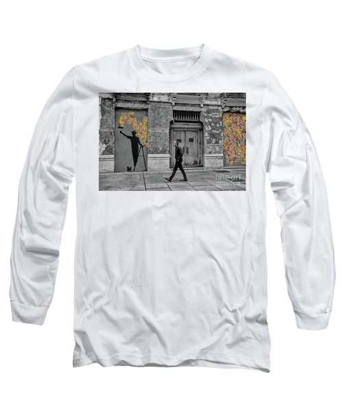 Long Sleeve T-Shirt featuring the photograph Street Art In Malaga Spain by Henry Kowalski