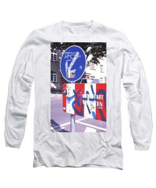 Street Art In Street Sign Long Sleeve T-Shirt