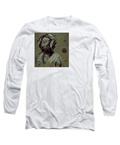 Wheat Paste Art Abstract  Long Sleeve T-Shirt by Sheila Mcdonald
