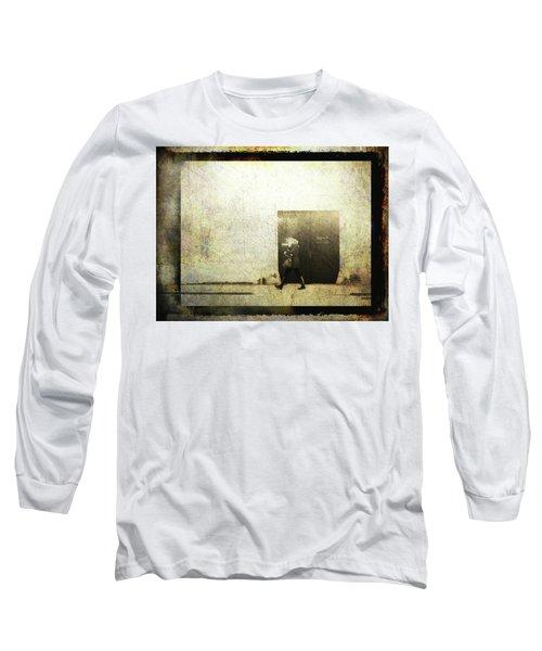 Street Photography - Closed Door Long Sleeve T-Shirt by Siegfried Ferlin
