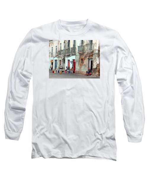 Street Scene Luanda, Angola Long Sleeve T-Shirt by John Potts