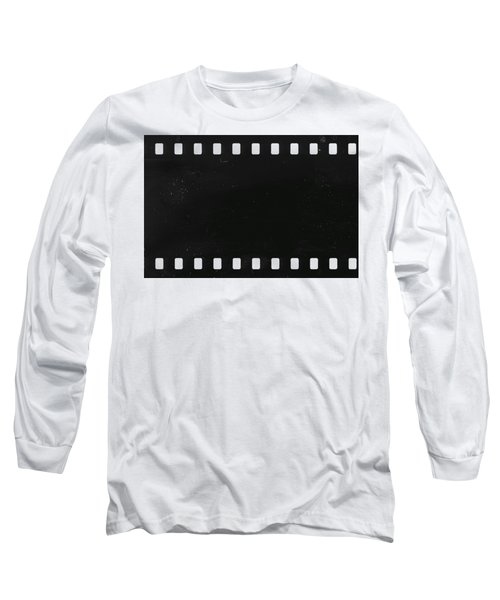 Long Sleeve T-Shirt featuring the photograph Strip Of Old Celluloid Film With Dust And Scratches by Michal Boubin