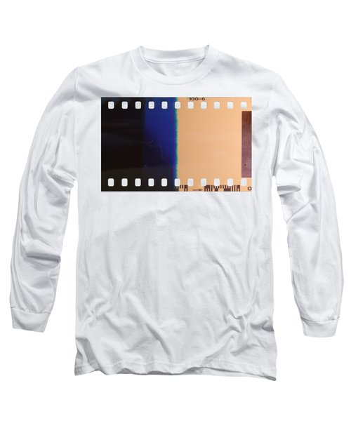 Strip Of The Poorly Exposed And Developed Celluloid Film Long Sleeve T-Shirt by Michal Boubin