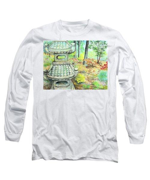 Strolling Through The Japanese Garden Long Sleeve T-Shirt