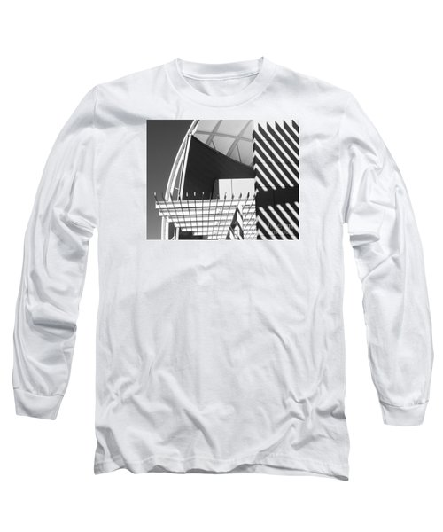 Structure Abstract 3 Long Sleeve T-Shirt by Cheryl Del Toro