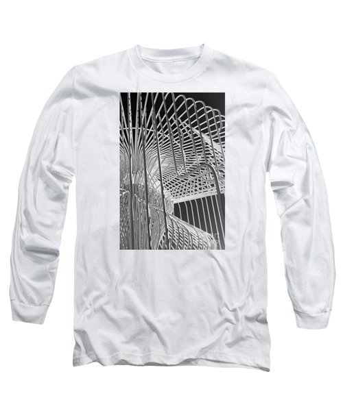 Structure Abstract 4 Long Sleeve T-Shirt by Cheryl Del Toro