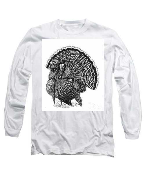 Strutting Gobbler Long Sleeve T-Shirt by Suzanne McKee