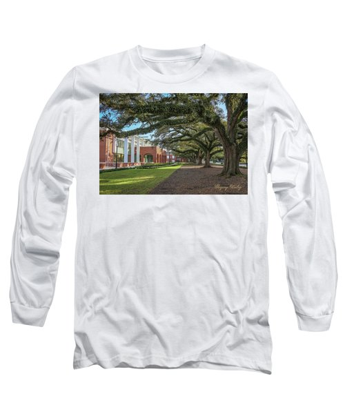 Long Sleeve T-Shirt featuring the photograph Student Union Oaks by Gregory Daley  PPSA