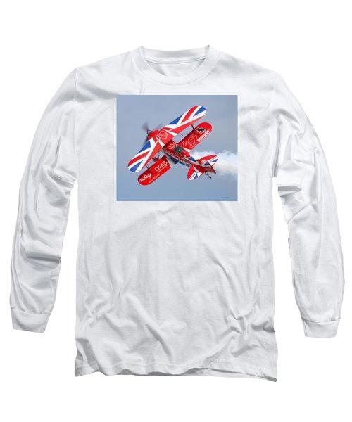 Stunt Plane Long Sleeve T-Shirt by Roy  McPeak