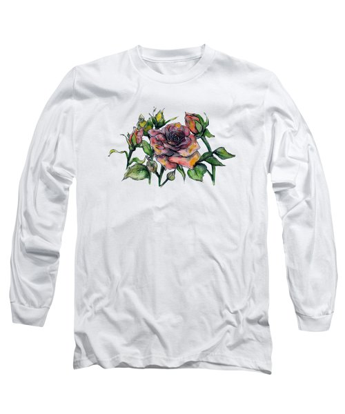 Stylized Roses Long Sleeve T-Shirt