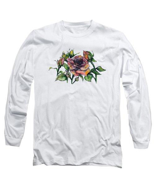 Stylized Roses Long Sleeve T-Shirt