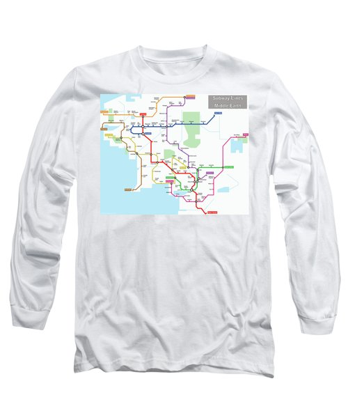 Subway Lines Of Middle Earth Long Sleeve T-Shirt