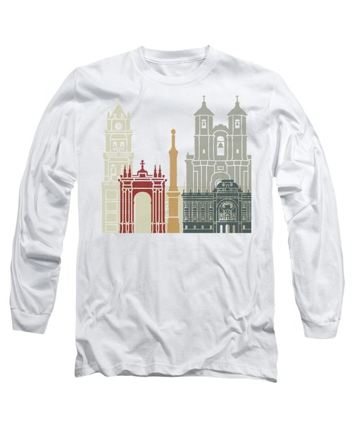 Sucre Skyline Poster Long Sleeve T-Shirt by Pablo Romero