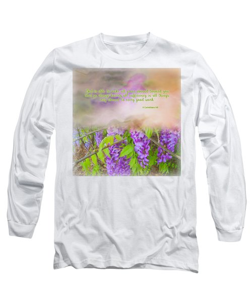 Sufficiency Long Sleeve T-Shirt by Larry Bishop