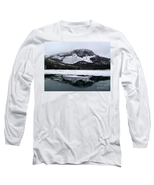 Sugarloaf Hill Reflections In Winter Long Sleeve T-Shirt by Barbara Griffin