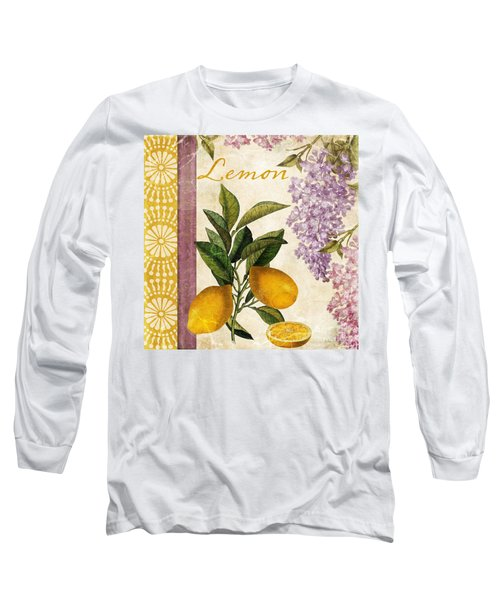 Summer Citrus Lemon Long Sleeve T-Shirt by Mindy Sommers