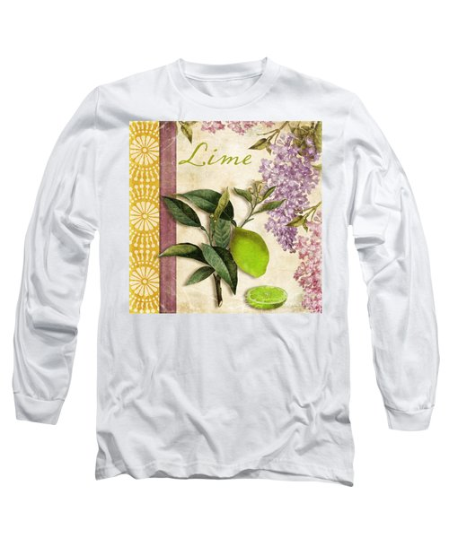 Summer Citrus Lime Long Sleeve T-Shirt by Mindy Sommers