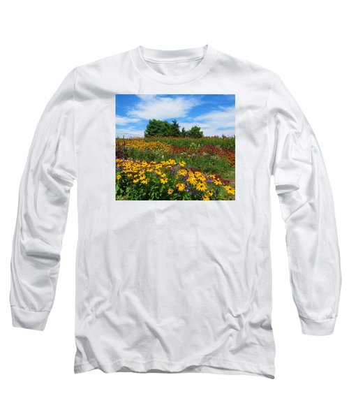 Summer Flowers In Pa Long Sleeve T-Shirt by Jeanette Oberholtzer