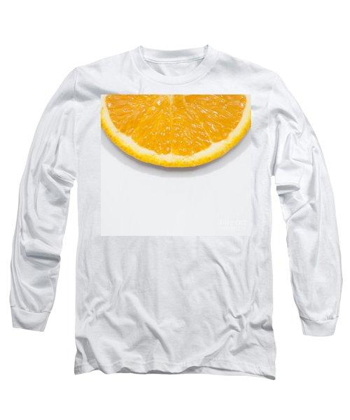 Summer Fruit Orange Slice On Studio Copyspace Long Sleeve T-Shirt