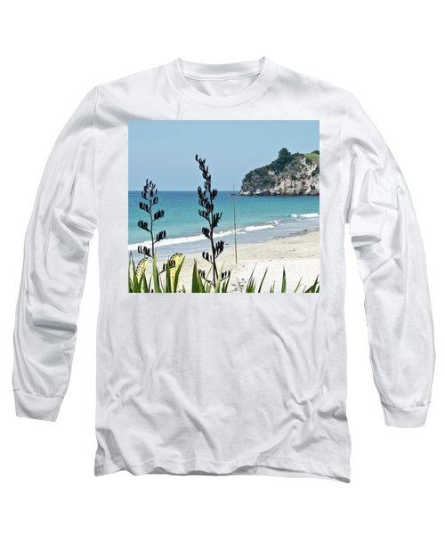 Summer New Zealand Beach Long Sleeve T-Shirt by Yurix Sardinelly